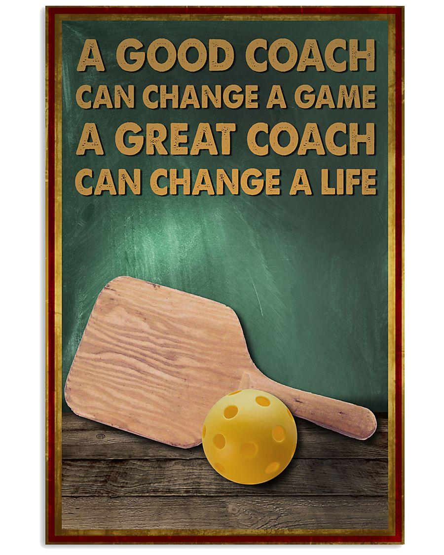 pickleball - a good coach poster - SR 11x17 Poster