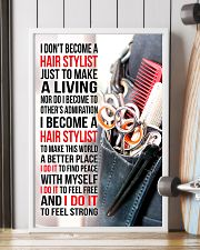 I DON'T BECOME A HAIR STYLIST JUST TO MAKE 11x17 Poster lifestyle-poster-4