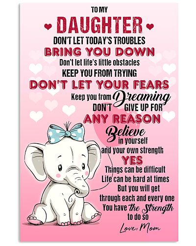 ELEPHANT - DON'T LET TODAY'S TROUBLES POSTER
