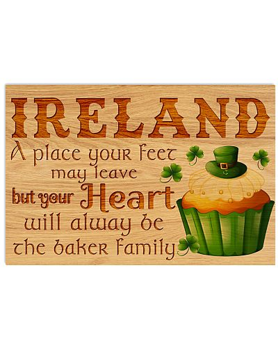 IRELAND A PLACE YOUR FEET MAY LEAVE POSTER