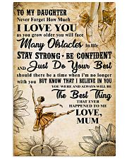2 TO MY DAUGHTER - I LOVE YOU - Dance 11x17 Poster front
