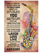 SAXOPHONE - TODAY IS A GOOD DAY POSTER 11x17 Poster front