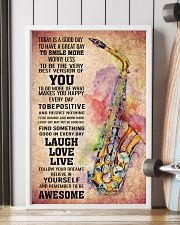 SAXOPHONE - TODAY IS A GOOD DAY POSTER 11x17 Poster lifestyle-poster-4