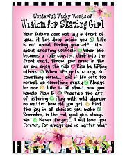 SKATING GIRL - WONDERFUL WACKY WORDS 11x17 Poster front