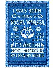 15 I WAS BORN TO BE A SOCIAL WORKER POSTER 11x17 Poster front
