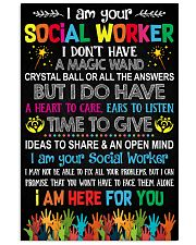 I AM YOUR SOCIAL WORKER POSTER 11x17 Poster front