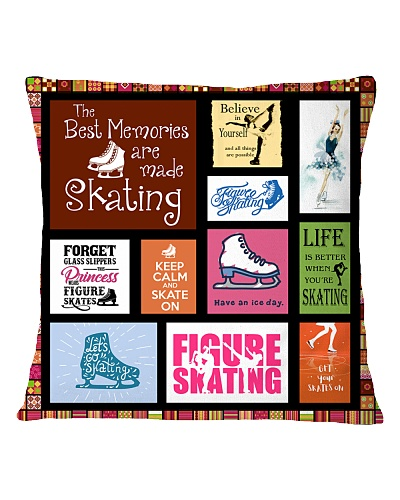 FIGURE SKATING DECOR PILLOWCASE