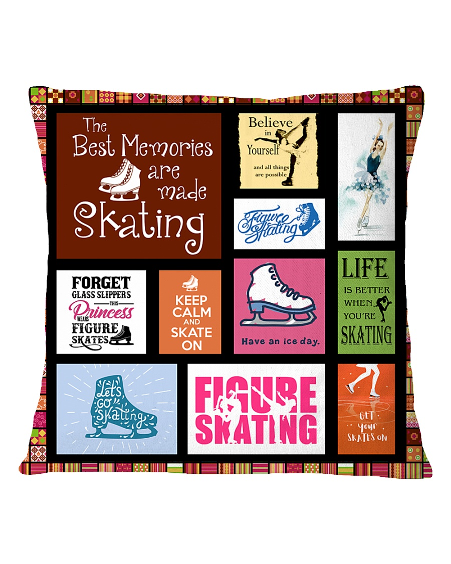 FIGURE SKATING DECOR PILLOWCASE Square Pillowcase