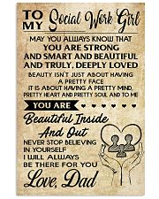 TO MY SOCIAL WORKERS - DAD 16x24 Poster front
