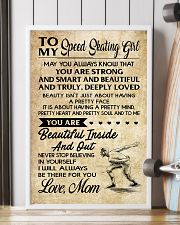 TO MY SPEED SKATING GIRL- MOM 16x24 Poster lifestyle-poster-4