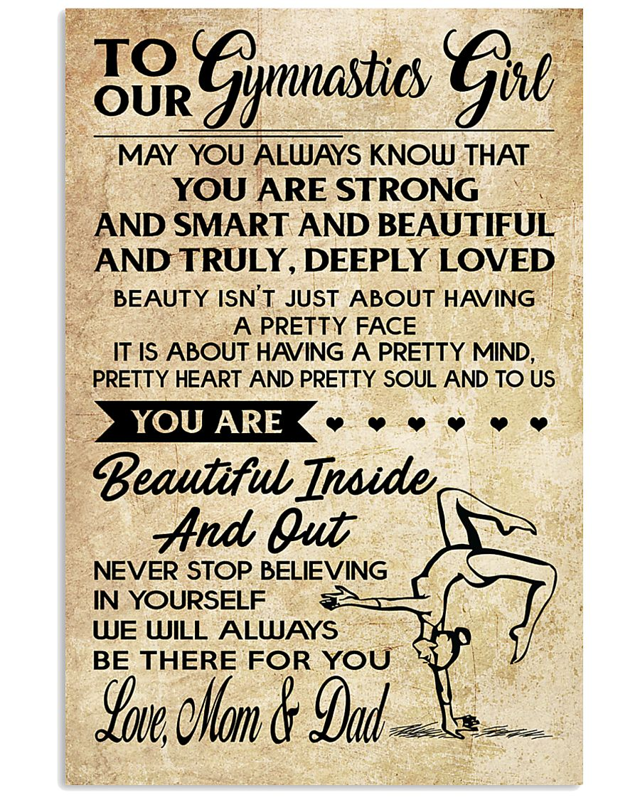10 TO OUR  Gymnastics Girl - Mom Dad 16x24 Poster