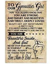 10 TO OUR  Gymnastics Girl - Mom Dad 16x24 Poster front