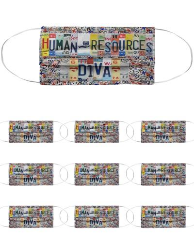 human resources diva license plates mask