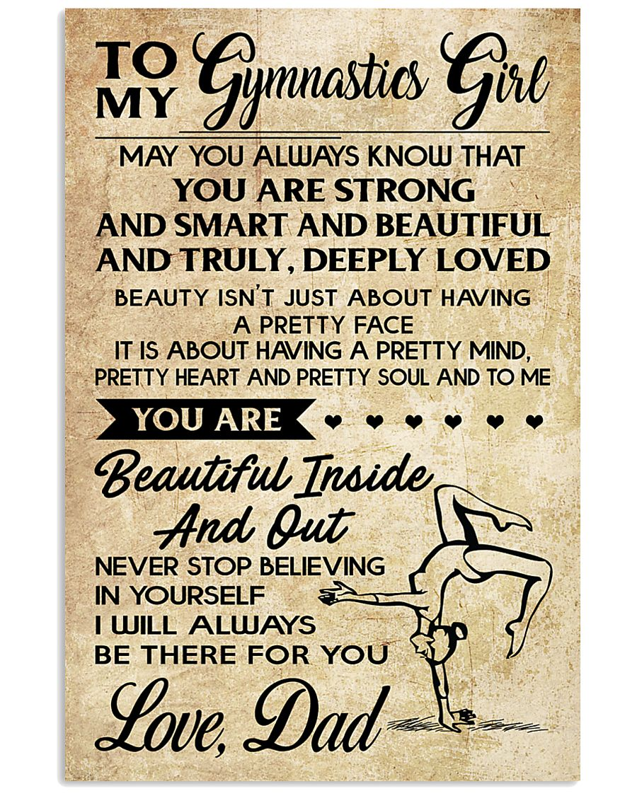 TO MY  Gymnastics Girl DAD 16x24 Poster