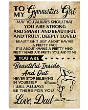 TO MY  Gymnastics Girl DAD 16x24 Poster front