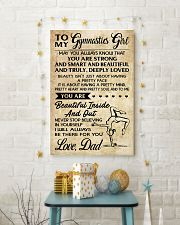 TO MY  Gymnastics Girl DAD 16x24 Poster lifestyle-holiday-poster-3