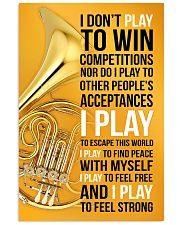 HORN - I DON'T PLAY TO WIN COMPETITIONS 11x17 Poster front
