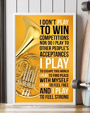 HORN - I DON'T PLAY TO WIN COMPETITIONS 11x17 Poster lifestyle-poster-4