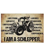 4 I am a schlepper poster kd 17x11 Poster front