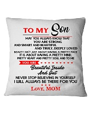 TO MY SON Square Pillowcase tile