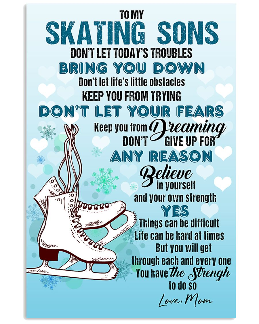 SKATING SONS - DON'T LET TODAY'S TROUBLES POSTER  11x17 Poster