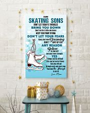 SKATING SONS - DON'T LET TODAY'S TROUBLES POSTER  11x17 Poster lifestyle-holiday-poster-3