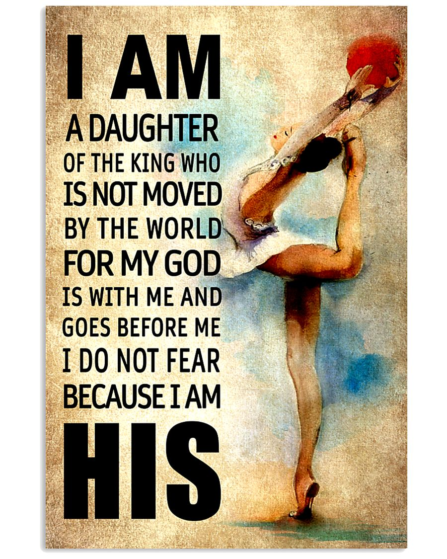 12- GYMNASTICS DAUGHTER - FOR MY GOD-KINGHIS 16x24 Poster