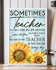 SOMETIMES IT ONLY TAKES A SINGLE TEACHER POSTER 11x17 Poster lifestyle-poster-4