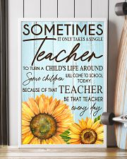 SOMETIMES IT ONLY TAKES A SINGLE TEACHER POSTER 24x36 Poster lifestyle-poster-4