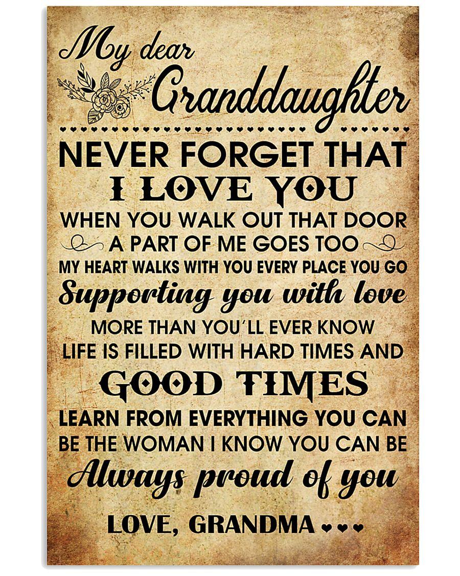 MY DEAR GRANDDAUGHTER 16x24 Poster