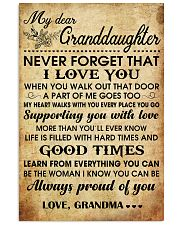 MY DEAR GRANDDAUGHTER 16x24 Poster front