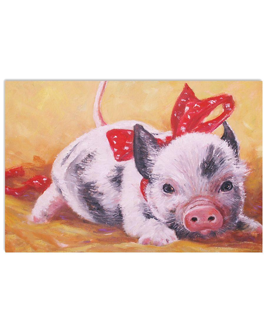 Pig Cute Watercolor Poter GL - TL 17x11 Poster