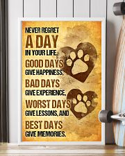 Dog - Never Regret A Day Poster SKY 11x17 Poster lifestyle-poster-4