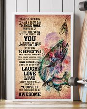 FISHING - TODAY IS A GOOD DAY POSTER 11x17 Poster lifestyle-poster-4