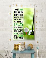 I DON'T PLAY TO WIN COMPETITIONS - GOLF 11x17 Poster lifestyle-holiday-poster-3