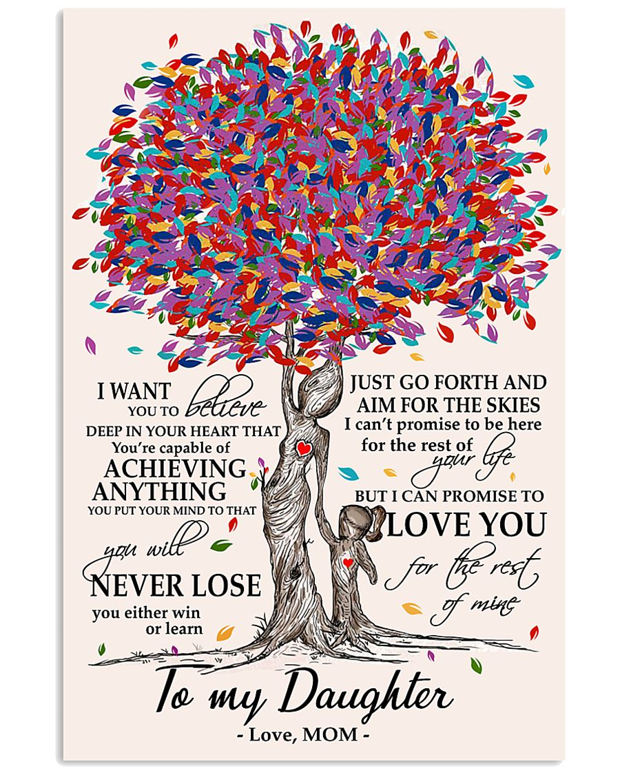 10- TO MY DAUGHTER poster 11x17 Poster