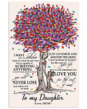 10- TO MY DAUGHTER poster 11x17 Poster front