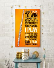 FLUTE - I DON'T PLAY TO WIN COMPETITIONS 11x17 Poster lifestyle-holiday-poster-3