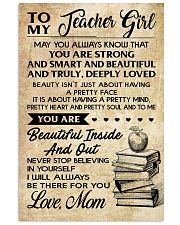 TO MY TEACHER GIRL 16x24 Poster front