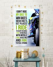 I DON'T RIDE MY BIKE TO WIN RACES - VR 11x17 Poster lifestyle-holiday-poster-3