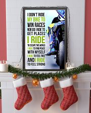 I DON'T RIDE MY BIKE TO WIN RACES - VR 11x17 Poster lifestyle-holiday-poster-4