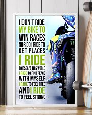 I DON'T RIDE MY BIKE TO WIN RACES - VR 11x17 Poster lifestyle-poster-4