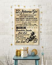 TO MY Motocross Girl DAD 16x24 Poster lifestyle-holiday-poster-3