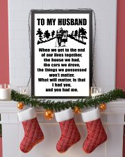 TO MY HUSBAND WHEN WE TO THE END 11x17 Poster lifestyle-holiday-poster-4