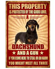 Dachshund - This Property Poster SKY 11x17 Poster front