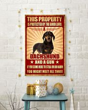 Dachshund - This Property Poster SKY 11x17 Poster lifestyle-holiday-poster-3