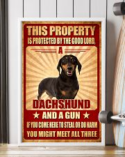 Dachshund - This Property Poster SKY 11x17 Poster lifestyle-poster-4