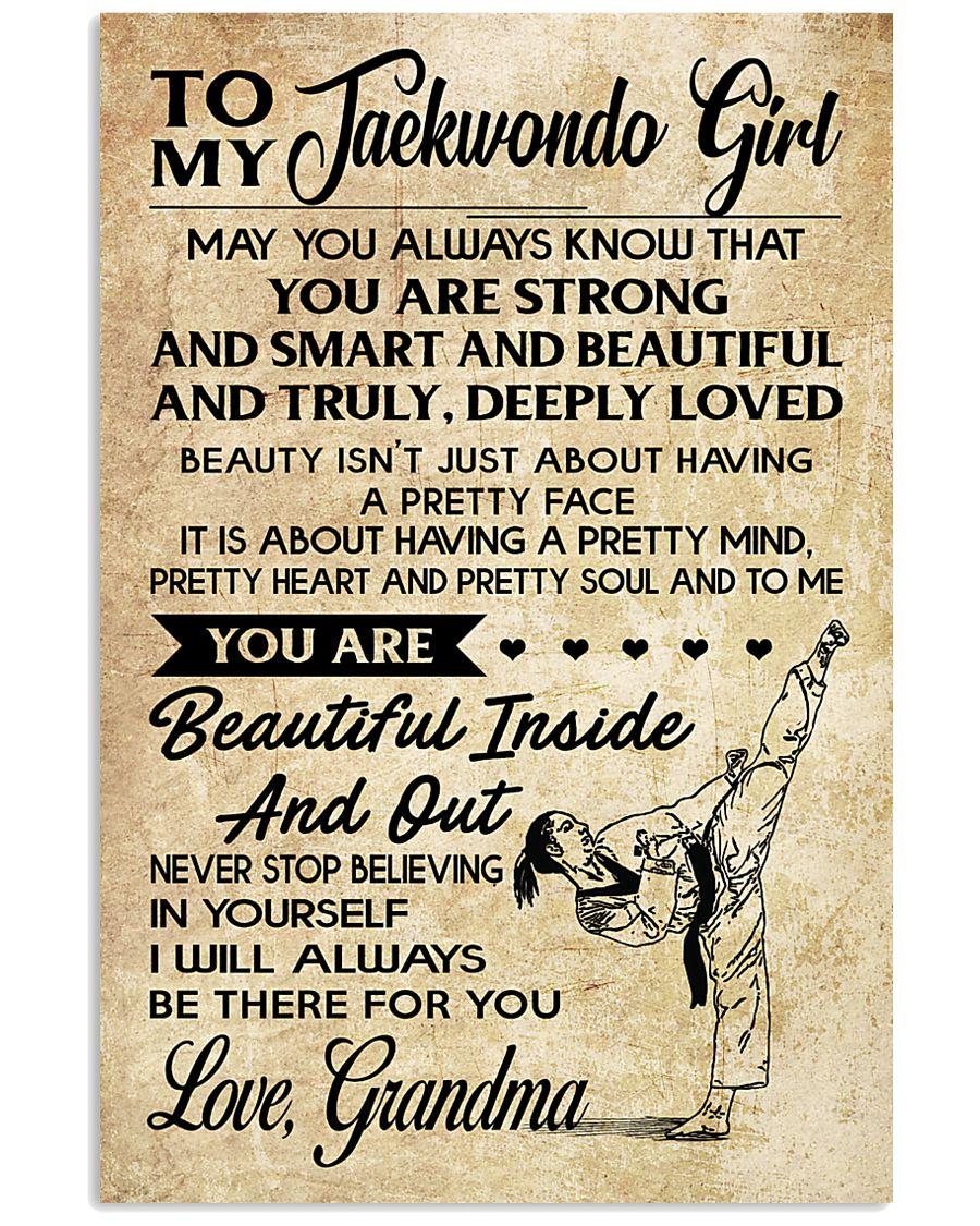18 TO MY Taekwondo Girl - Grandma 16x24 Poster