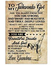 18 TO MY Taekwondo Girl - Grandma 16x24 Poster front