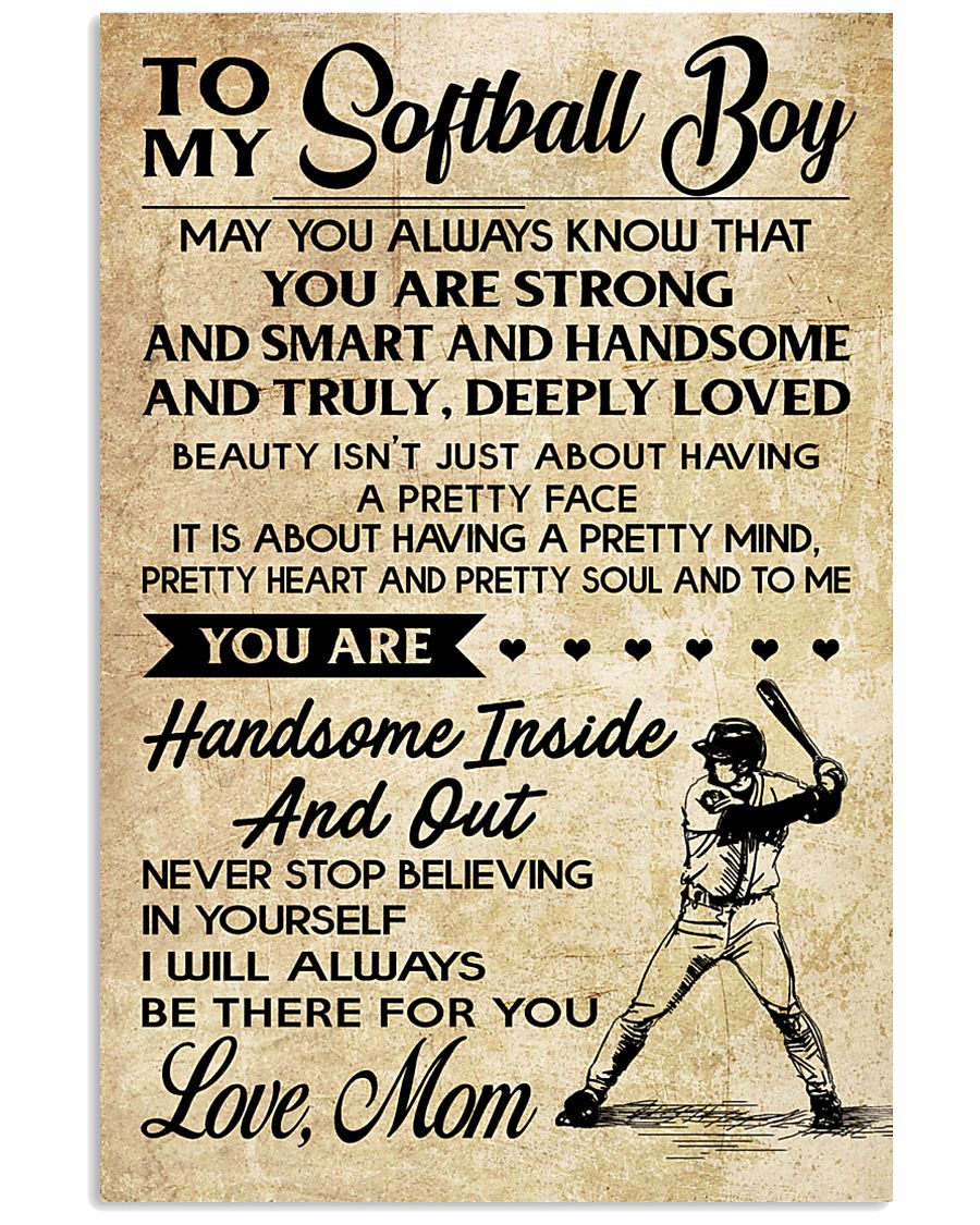 TO MY Softball Boy - Mom 16x24 Poster